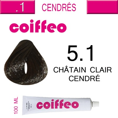 Coiffeo боя за коса 100 мл N 5.1 светло кестеняво пепеливо