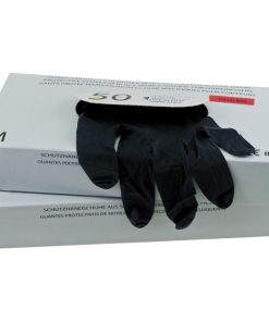 Черни ръкавици за боядисване нитрил 50 бр.
