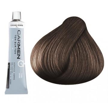 Carmen Men - мат боя за коса и бради - тъмно кафява 60 мл