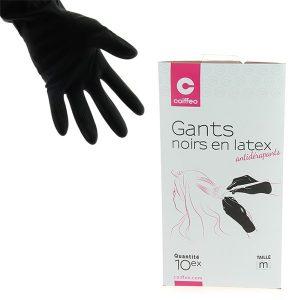 Черни ръкавици за многократна употреба, размер M - 10 бр.