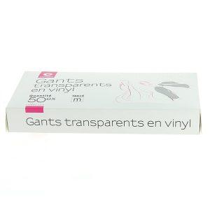 Прозрачни бели ръкавици, размер M - 50 бр.