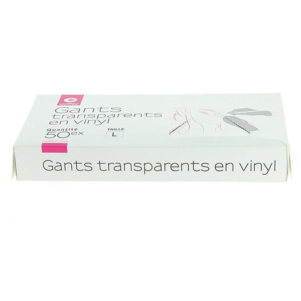 Прозрачни бели ръкавици размер L