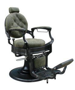 "Бръснарски стол ""Барок"", зелен"