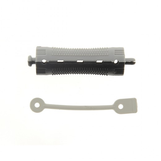 Ролки за къдрене 70x16 мм-12 бр. черно и сиво