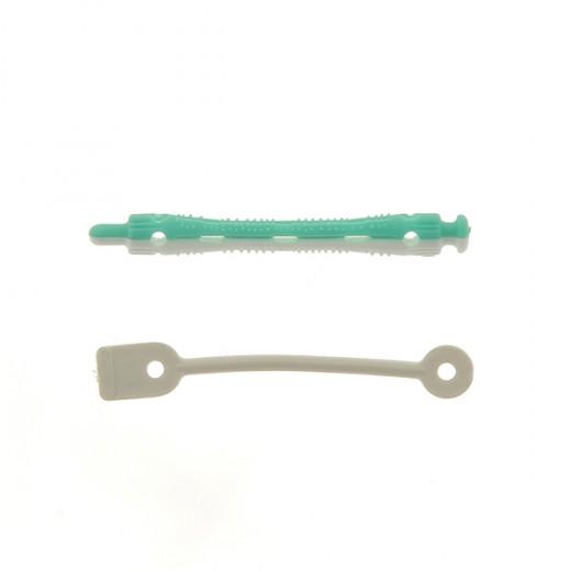 Ролки за къдрене 70x6 мм-12 бр. зелено и бяло