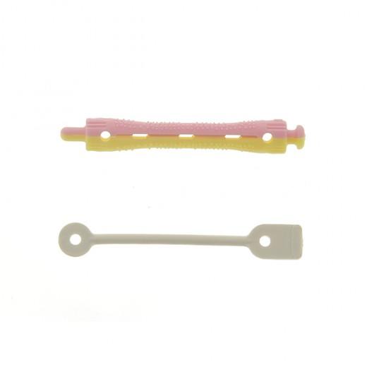 Ролки за къдрене 70x8 мм-12 бр. розаво и жълто
