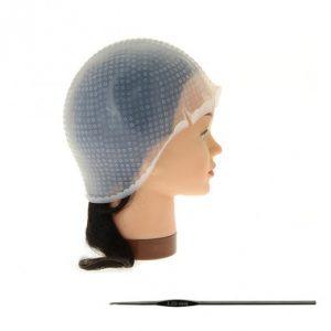 Силиконова шапка за кичури с кука