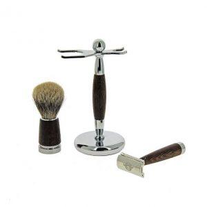 Комплект за бръснене-кафяв