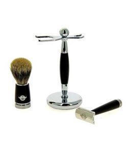 Комплект за бръснене-черен мат