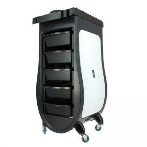 Фризьорска помощна количка - чернo и бяло