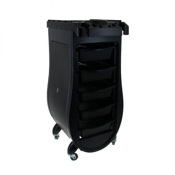 Фризьорска помощна количка - черна