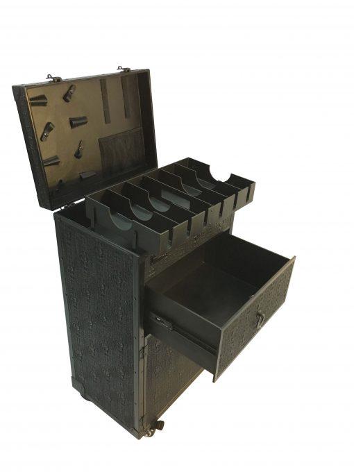 Бръснарска количка - куфар