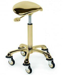 """Фризьорски помощен стол """"Eccentric Gold"""""""