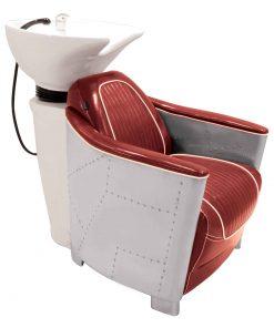"""Фризьорска стол мивка """"AUSTIN""""-червена"""