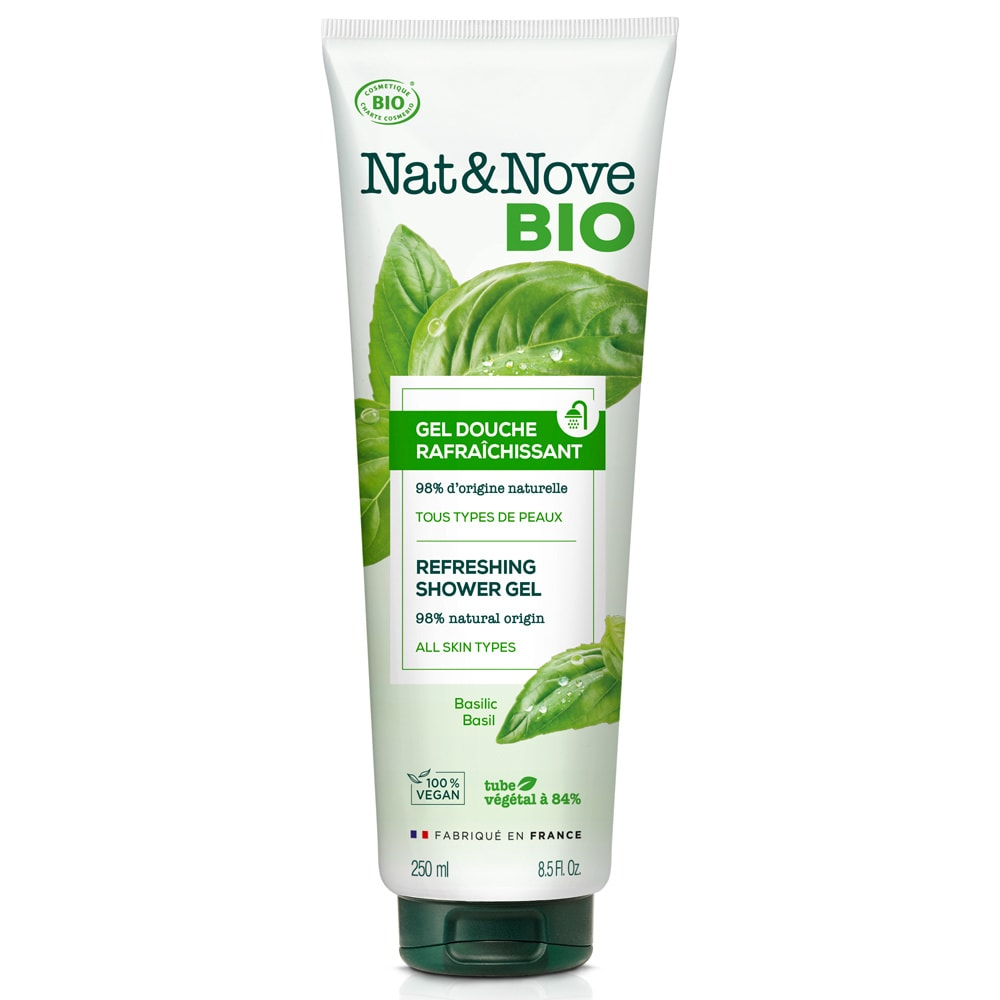 Nat&Nove BIO Освежаващ душ гел 250 мл