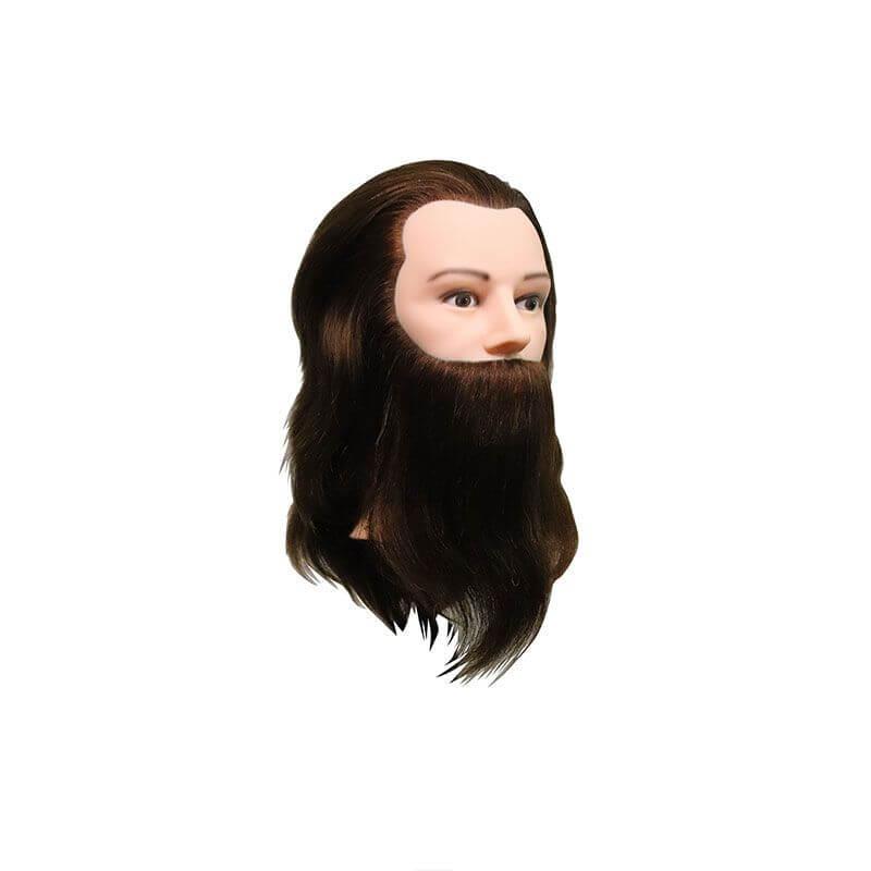 Учебна фризьорска глава Louis с брада