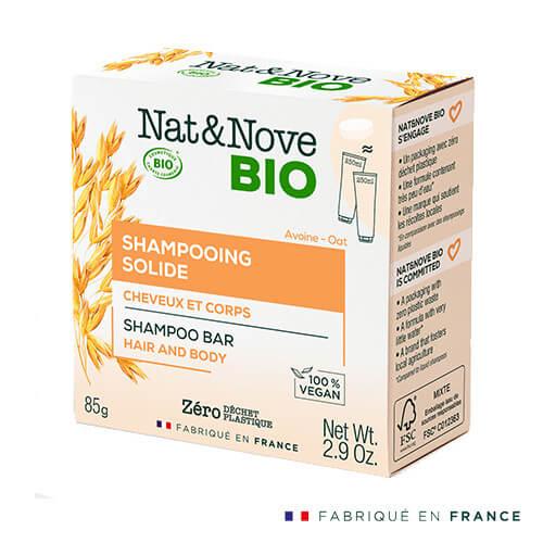 Nat&Nove BIO Твърд шампоан за коса и тяло 85 гр
