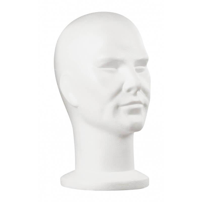 Мъжка глава за перука от полистирол
