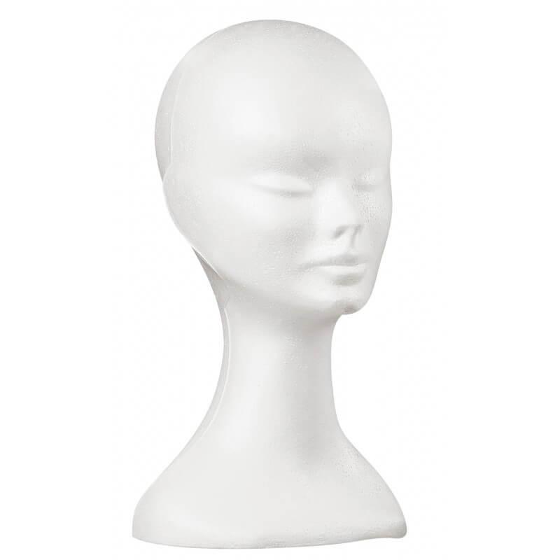 Женска глава за перука от полистирол
